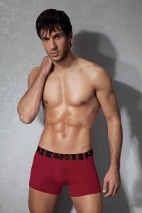 Doreanse Plain Boxer Brief Underwear Claret 1777