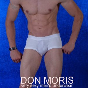 Don Moris Plain Boxer Brief Underwear White DM080809