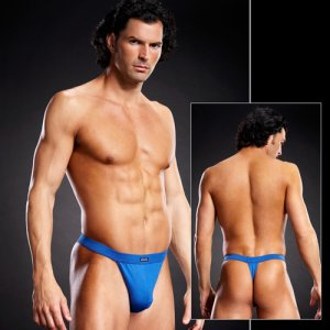 Blue Line Performance Microfiber Thong Underwear Royal Blue ...