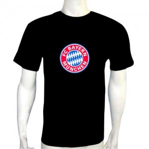 LED Electro Luminescence FC Bayern Munchen Funny Gadgets Rave Party Disco Light T Shirt 12088