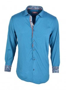 Spazio Peninnah Long Sleeved Shirt Aqua 42-S-1817