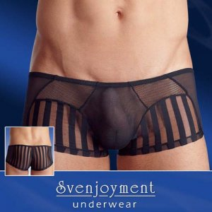Svenjoyment Freestyle Sheer Network Combo Boxer Brief Underwear Black 2131447
