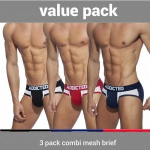 Addicted [3 Pack] Combi Mesh Brief Underwear AD845P