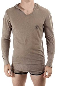 L'Homme Invisible Linen Hoody Long Sleeved Sweater Taupe HW1...