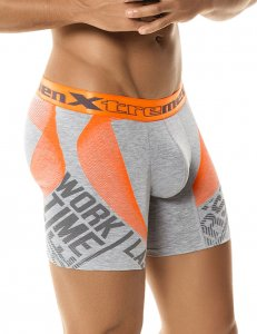 Xtremen Spraypaint Boxer Brief Underwear Grey 51348