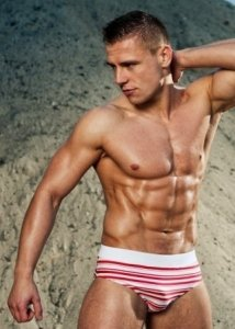 Alpha Male Stripe Bikini Swimwear ERGO3