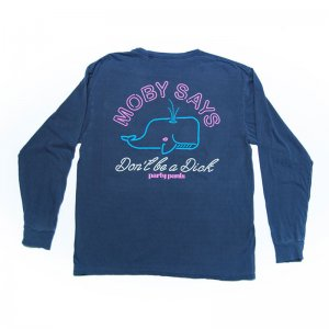 Party Pants Moby Og Long Sleeved T Shirt Indigo PM201208