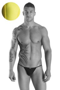 Lookme NEW LOOK Back Chain G String Underwear Yellow 99-13 FR1