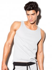 N2N Bodywear Active Sport Tank Top T Shirt Grey/Black SP4_12