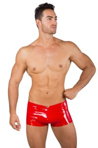 Eros Veneziani Lack PVC Anatomic Boxer Brief Underwear Red 7321