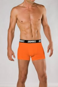 Grundies Muscle Trunk Underwear Orange/Black