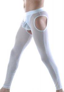 Don Moris Fantasy Sheer Cut Out Long Johns Long Underwear Pants Underwear  White DM220366 00e4c959f