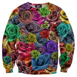 Mr. Gugu & Miss Go Colorful Roses Unisex Sweater S-PC051