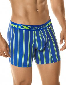 Xtremen Athleto Stripe Microfiber Boxer Brief Underwear Blue 51345