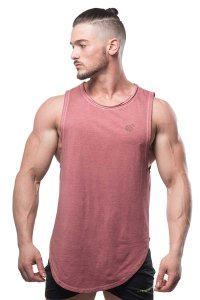 Jed North Luxe Flex Vintage Washed Muscle Top T Shirt Red TA...