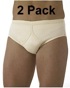 [2 Pack] Jockey Comfort Rib Y-Front Brief Underwear Flesh