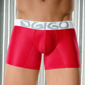 Gigo NET Long Boxer Underwear Red