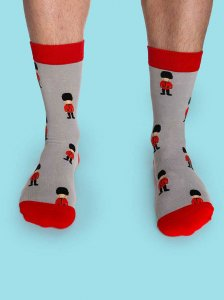 Curious Beaver Queen's Guards Socks