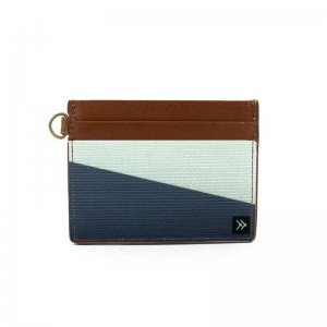 Thread Wallets Fine Line Slim Leather Card Holder Wallet