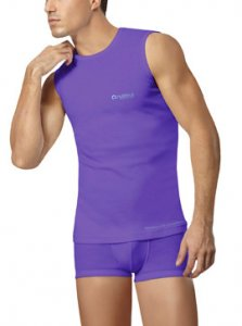 Nukleus Rebirth Sea Andaman Contempo Muscle Top T Shirt Purple NST9090