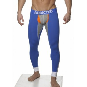 Addicted Athletic Multicolour Long John Long Underwear Pants Royal AD019