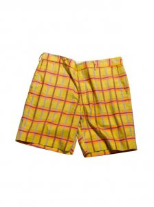 Breese Plaid Shorts Mustard MUSPLD100
