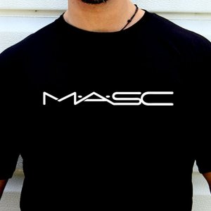 4 Labels MASC Short Sleeved T Shirt Black/White