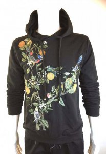 Spy Henry Lau Flowers & Birds Embroidery Hooded Long Sleeved...