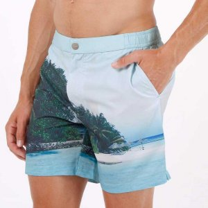 Mosmann Bure Tailored Shorts Swimwear Blue MSW0062