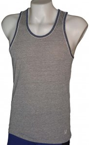 Sauvage Ringer Tank Top T Shirt Grey/Navy