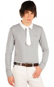 Litex Equestrian Riding Polo Racing Long Sleeved Shirt Grey ...