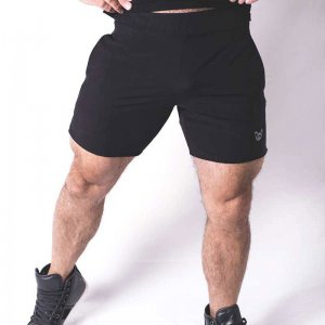 Bullywear Casual Gym Shorts Black/Grey CS80