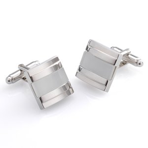 Duncan Walton Harvey Cufflinks White C2381B