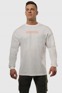 Jed North Energy Oversized Long Sleeved T Shirt White JNTOP0...