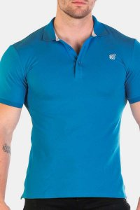 Jed North Premiere Polo Short Sleeved Shirt Blue JNTOP017