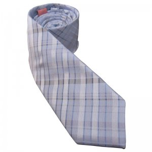 Distino Of Melbourne Slim Nude Silk Necktie Light Blue NS7
