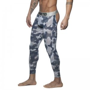 Addicted Bottomless Long John Long Underwear Pants Camouflag...