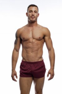 Go Softwear American Jock Ultra Running Shorts Burgundy 8316