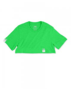 The Well Branded Classix Max Crop Top Short Sleeved T Shirt Neon Green