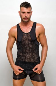 Pride Venice Tank Top T Shirt Black PRU-032