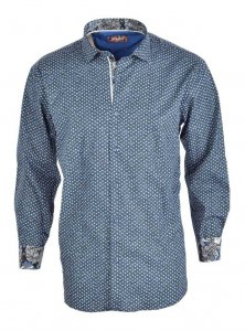 Spazio Scipio Long Sleeved Shirt Navy 33-S-1808