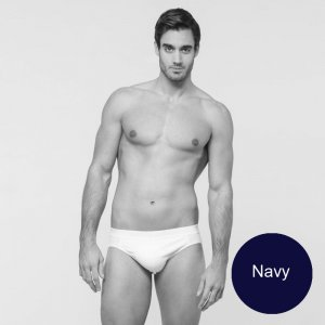 Minerva [2 Pack] Comfort 2 Slip Outside Rubber Brief Underwear Navy 21032