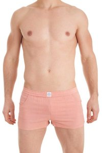 L'Homme Invisible Sensations Lounge Shorts Peach Pink HW130-...