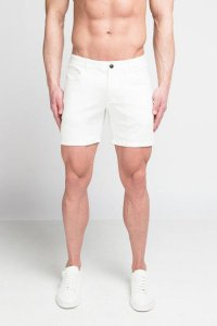 Clearance ST33LE Stretch Knit Shorts White STL1932