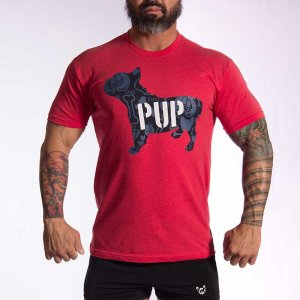 Bullywear Pup Short Sleeved T Shirt Red PUP1