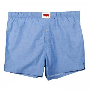 Levi's Classy Oxford Woven Cotton Loose Boxer Shorts Underwear Royal Blue