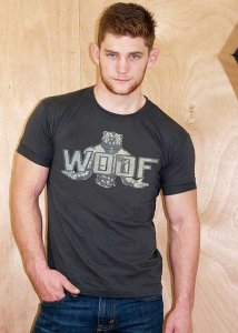 Ajaxx63 Woof Bear Short Sleeved T Shirt Faded Black AS89