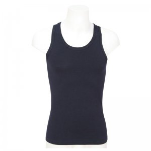 Minerva Sporties Basic Vest Muscle Top T Shirt Navy 10140