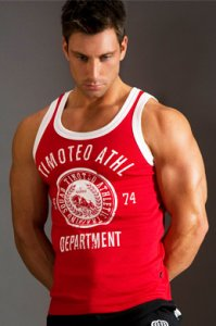 Timoteo Training Team Tank Top T Shirt Red SM7187