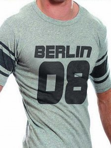 Good Boy Gone Bad Berlin Vintage Short Sleeved T Shirt Grey